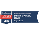 Best Lawyers Lawyer Of The Year ADR Shawa Shield 2020