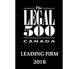 Legal500 Leading Firm 2018