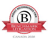 2020 Benchmark Litigation Highly Recommended Firm
